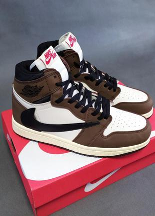 🔥мужские кроссовки в стиле nike air jordan retro high x travis...