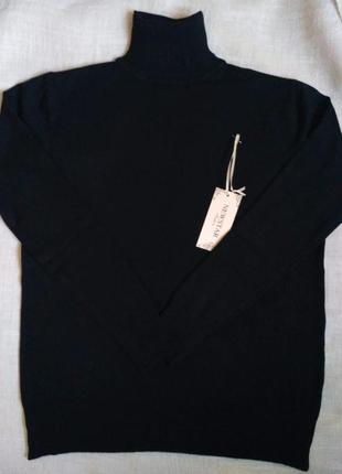 Черный гольф женский базовый теплый зимний большого размера батал