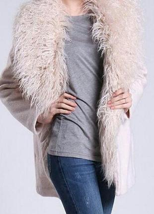 Зимнее❄❄❄ пальто  шикарная лама !!!    о  zara р 10-12