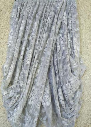 Гипюровая юбка-миди в запах в стиле бохо