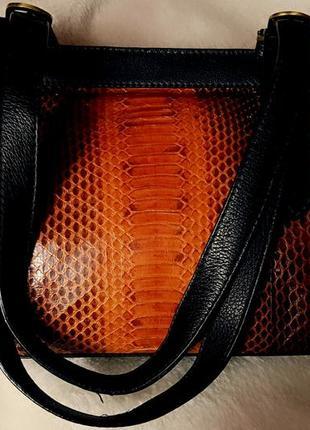 Итальянская сумка саквояж из кожи питона  💯%
