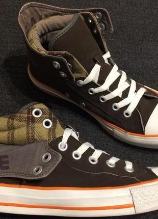 Converse all star chuck taylor высокие кеды кроссовки с отворо...