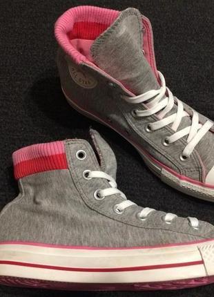 Converse all star chuck taylor kids высокие кеды кроссовки