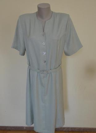 Шикарное фирменное платье в деловом стиле под пояс