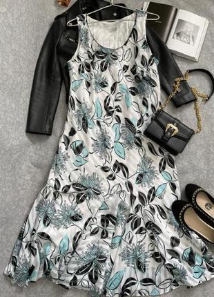 Невероятное платье сарафан в бирюзово черных тонах, 20 р.