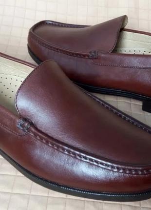 43.5 29.6см Dockers мужские кожаные туфли лоферы мокасины