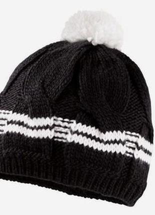 Теплая вязанная шапка подкладка флис crivit германия