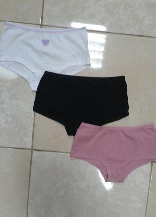 Трусики шорты для девочки из хлопка 6-8 лет george