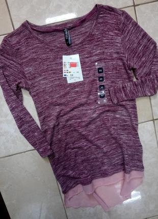 Легкий комбинированный пуловер хс-с германия takko