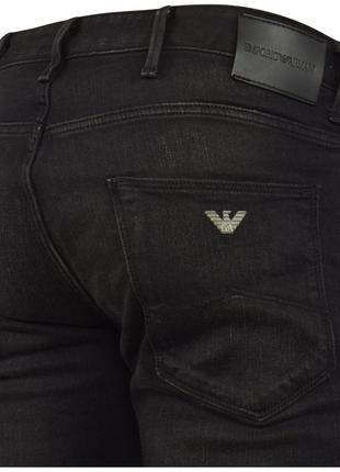 Джинсы EMPORIO ARMANI Washed Black Slim Fit Jeans