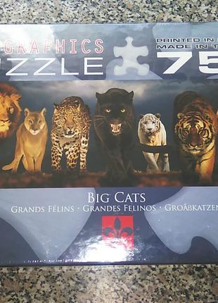 "Пазлы Eurographics ""Большие кошки"" 750 эл."
