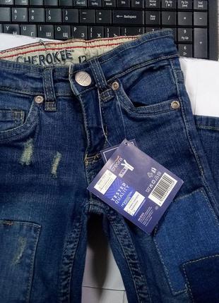 Фирменные джинсы с заплатками 92 cherokee by lupilu германия