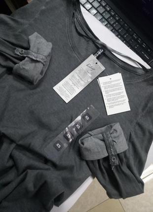 100% хлопок! мягкий винтажный реглан с подворотами хс германия