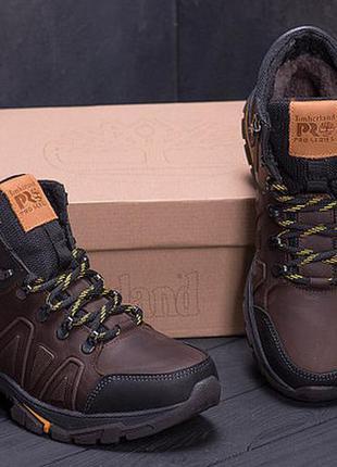 Мужские кожаные ботинки timderland chocolate, тимберленд корич...