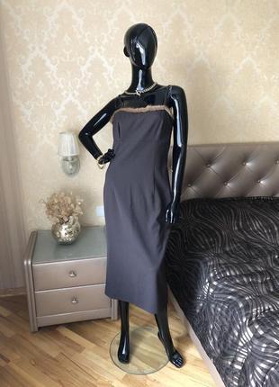 Платье италия vera pelliccia, с натуральной норкой, размер s, m