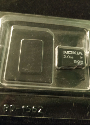 Карта памяти 2 гб microsd Nokia 2гб с упаковкой
