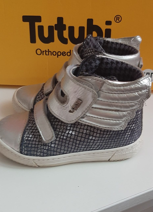 Детские кожаные ортопедические кросовки