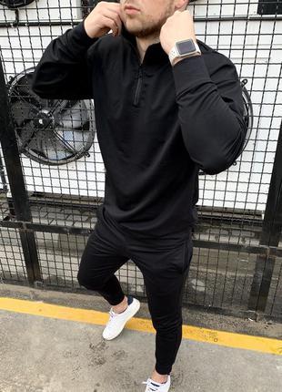 Спортивный костюм мужской оверсайз черный / комплект чоловічий...