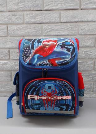 Рюкзак детский школьный каркасный spider-man