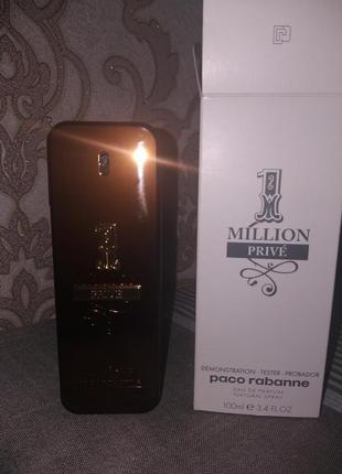 Аромат PACO RABANNE 1 Million Prive, 100 мл edp. Тестер