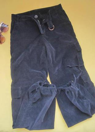 Микровельветовые штаны на завязках внизу,р.26,vinci,италия,отл...