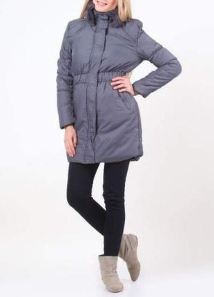 Куртка пальто с натуральным меховым воротником madoc