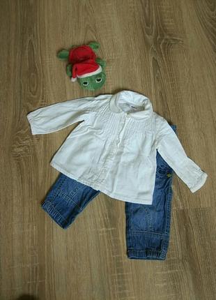 Стильная нарядная рубашка блуза от zara на девочку 3-6 мес.