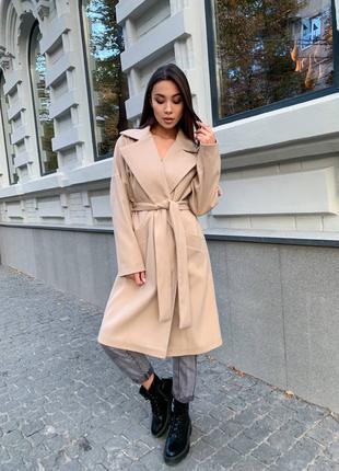 Стильное кашемировое пальто