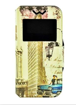 Чехол книжка Foto Universal Book Cover Cities New York 4.0-4.3