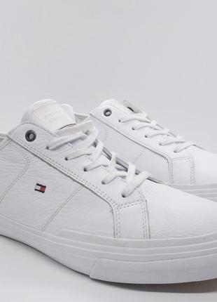Стильные кожаные белые кроссовки мокасины кеды tommy hilfiger ...