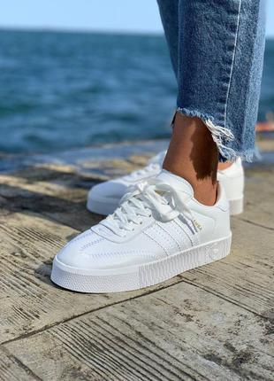 Adidas samba кроссовки кеды белые адидас самба