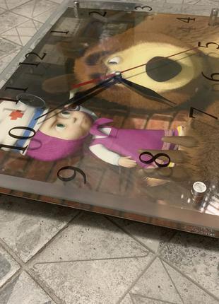 Детские настенные часы Маша и медведь