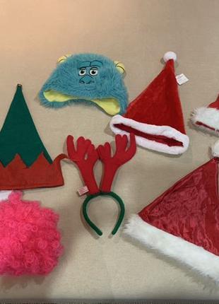 Новогодние шапки карнавальные украшения