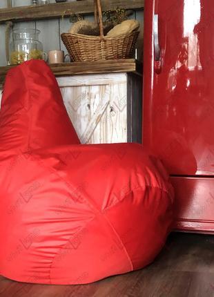 Кресло мешок (размер M). Красный. Кресло груша.
