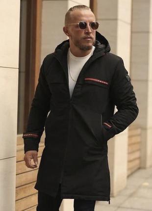 Парка мужская теплая prada черная / куртка чоловіча тепла курт...
