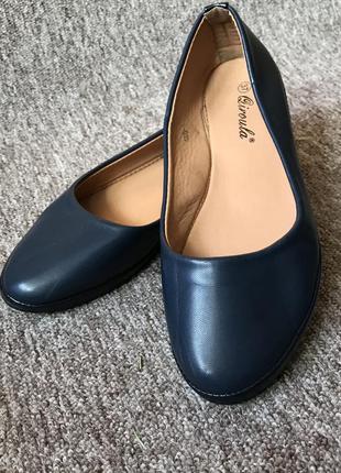 Базові сині балетки 37 розмір, туфлі, туфли