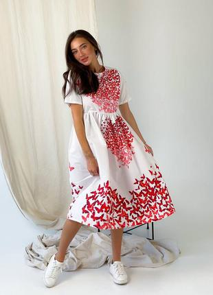 Платье миди♥️пышная юбка♥️хит продаж 🔥