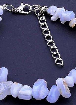 Шикарный браслет из натурального камня сапфирин