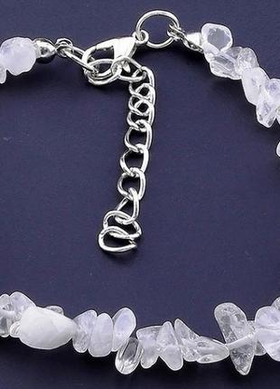 Шикарный браслет из натурального камня горный хрусталь.