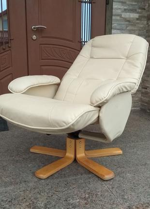 Шкіряне крісло реклайнер, кожаное кресло релакс, відпочинкові, ст