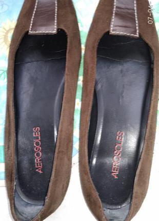 Туфли замшевые коричневые aerosoles-37р.сша.
