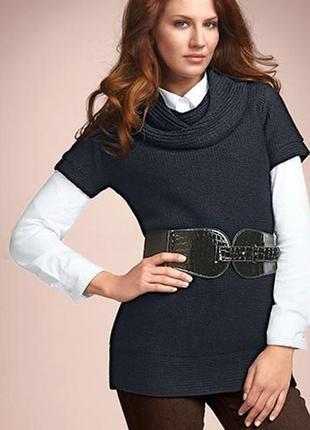 Распродажа!! вязаное платье-туника с поясом