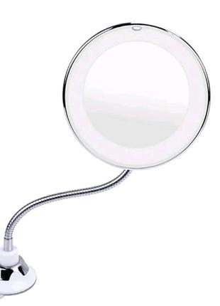 Увеличительное зеркало на присоске