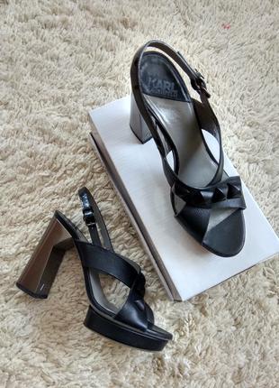 Кожаные босоножки Karl Lagerfeld оригинал