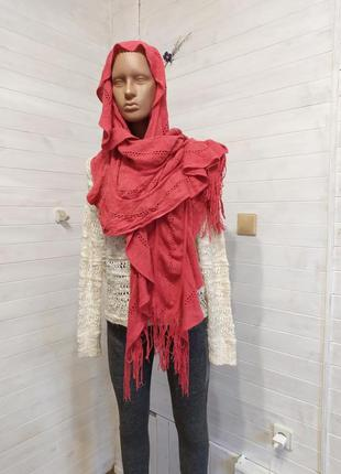 Шикарный теплый коралловый шарф германия