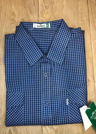 Мужская рубашка с длинным рукавом большого размера