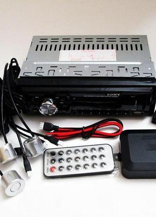 Автомагнитола Sony 1047Р + ПАРКТРОНИК 4 датчика!