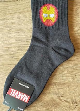 Носки с принтом «супергерои. мстители. железный человек. iron ...