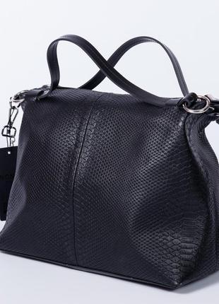 Шкіряна сумка чорна