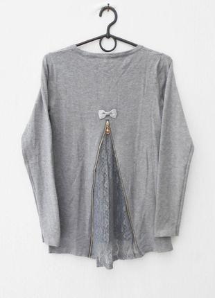 Осенний зимний нарядный свитер с кружевом на молнии с длинным ...